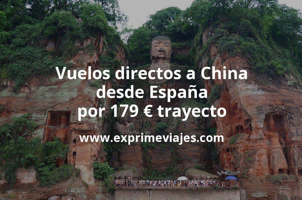 ¡Chollo! Vuelos directos a China desde España por 179euros trayecto