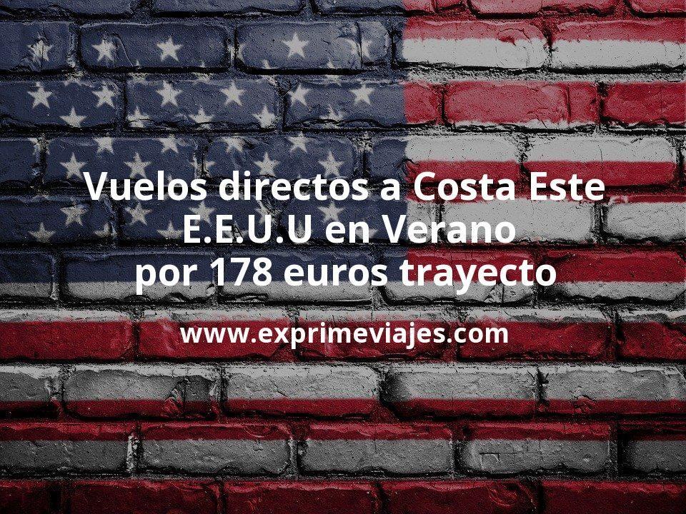 ¡Chollo! Vuelos directos a Costa Este de E.E.U.U en Verano por 178euros trayecto