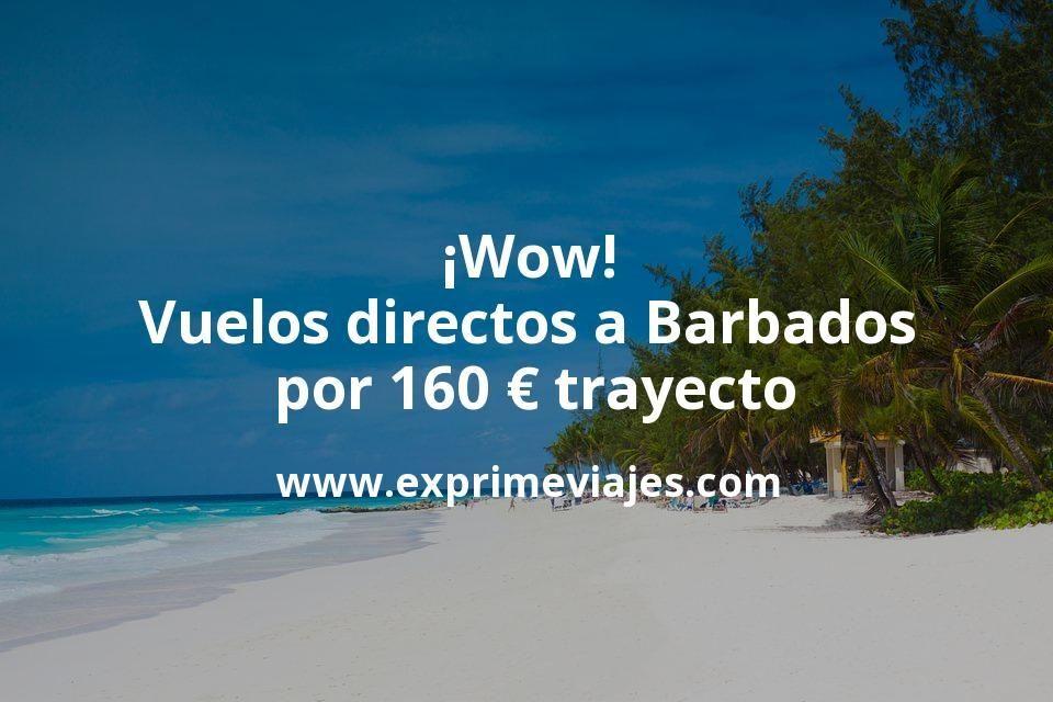 ¡Wow! Vuelos directos a Barbados por 160euros trayecto