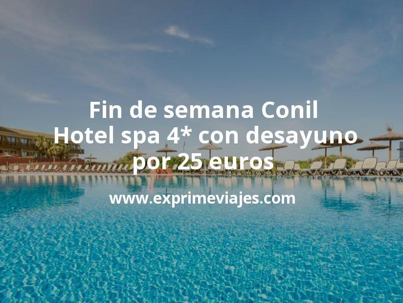 Fin de semana Conil: Hotel spa 4* con desayuno por 25€ p.p/noche