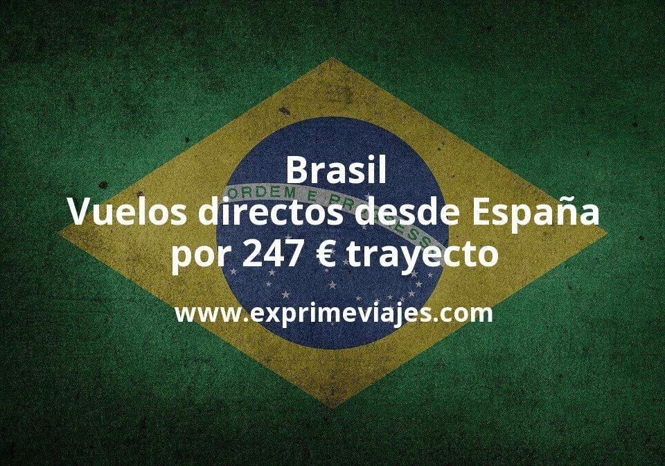 ¡Wow! Brasil: Vuelos directos desde España por 247euros trayecto