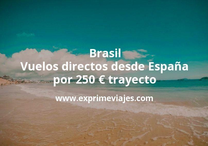 ¡Wow! Brasil: Vuelos directos desde España por 250euros trayecto