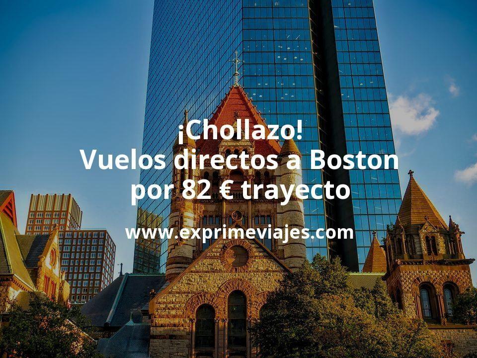 ¡Chollazo! Vuelos directos a Boston por 82euros trayecto