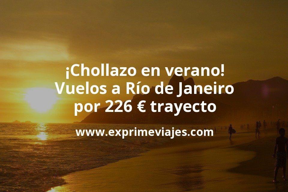 ¡Chollazo! Vuelos a Río de Janeiro en pleno verano por 226€ trayecto