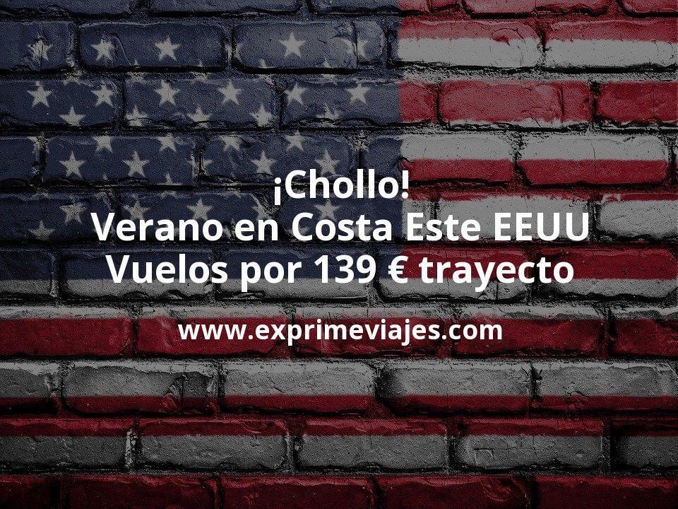 ¡Chollo! Verano en Costa Este EEUU: Vuelos por 139euros trayecto