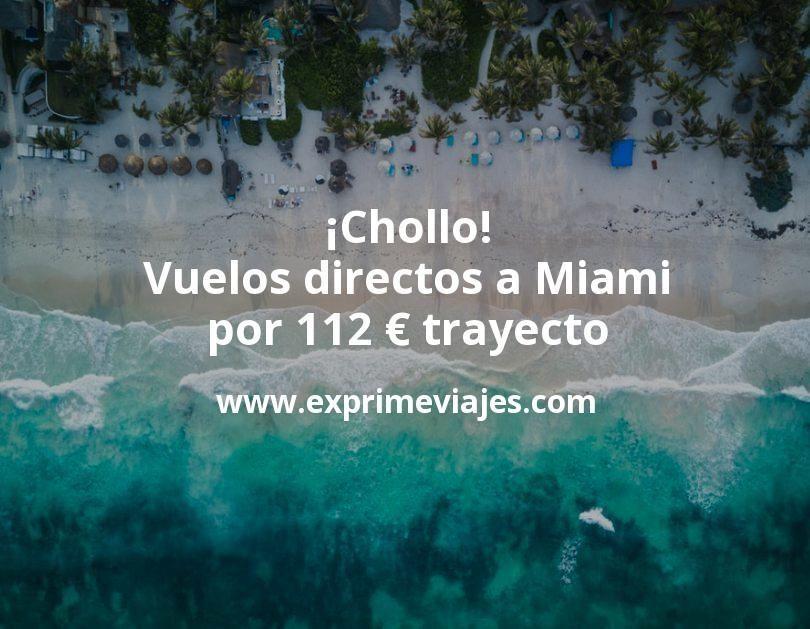 ¡Chollo! Vuelos directos a Miami por 112euros trayecto