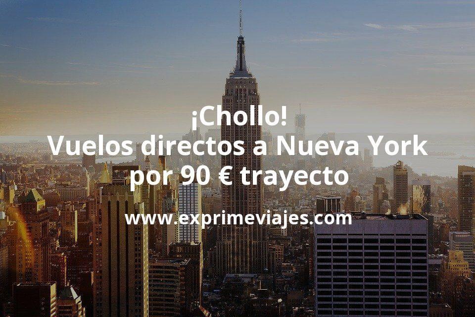 ¡Chollo! Vuelos directos a Nueva York por 90euros trayecto