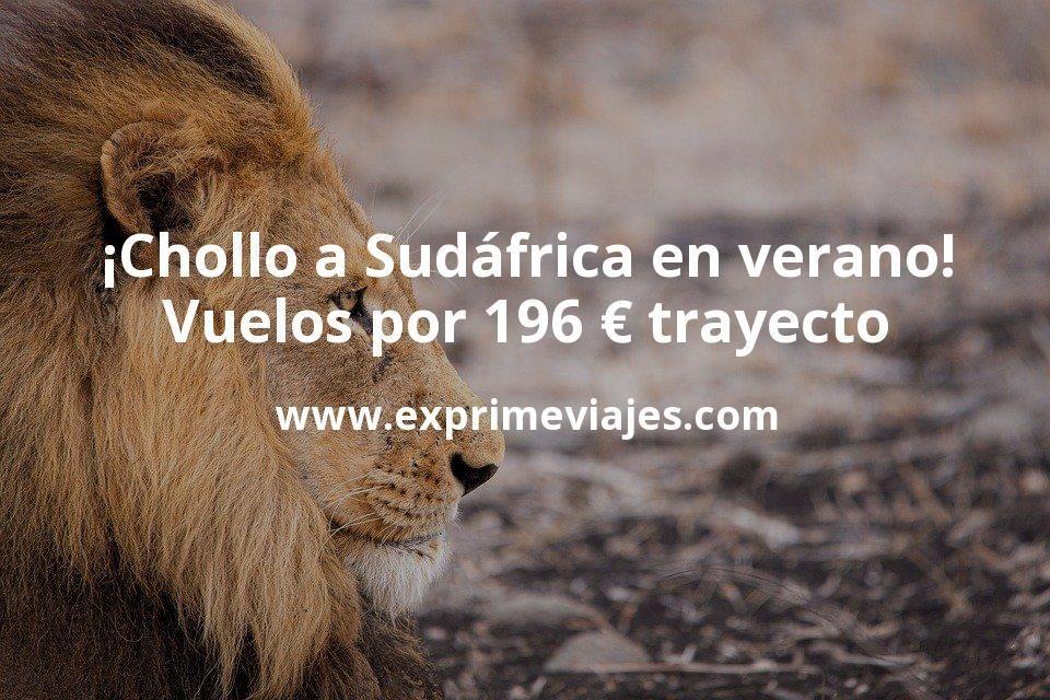 ¡Chollo para el verano! Vuelos a Sudáfrica por 196€ trayecto