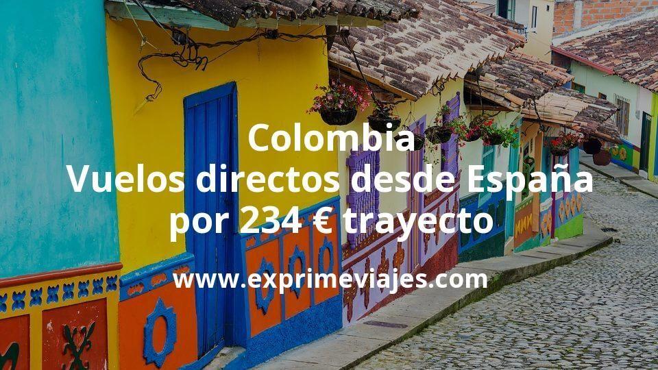 ¡Wow! Colombia: Vuelos directos desde España por 234euros trayecto