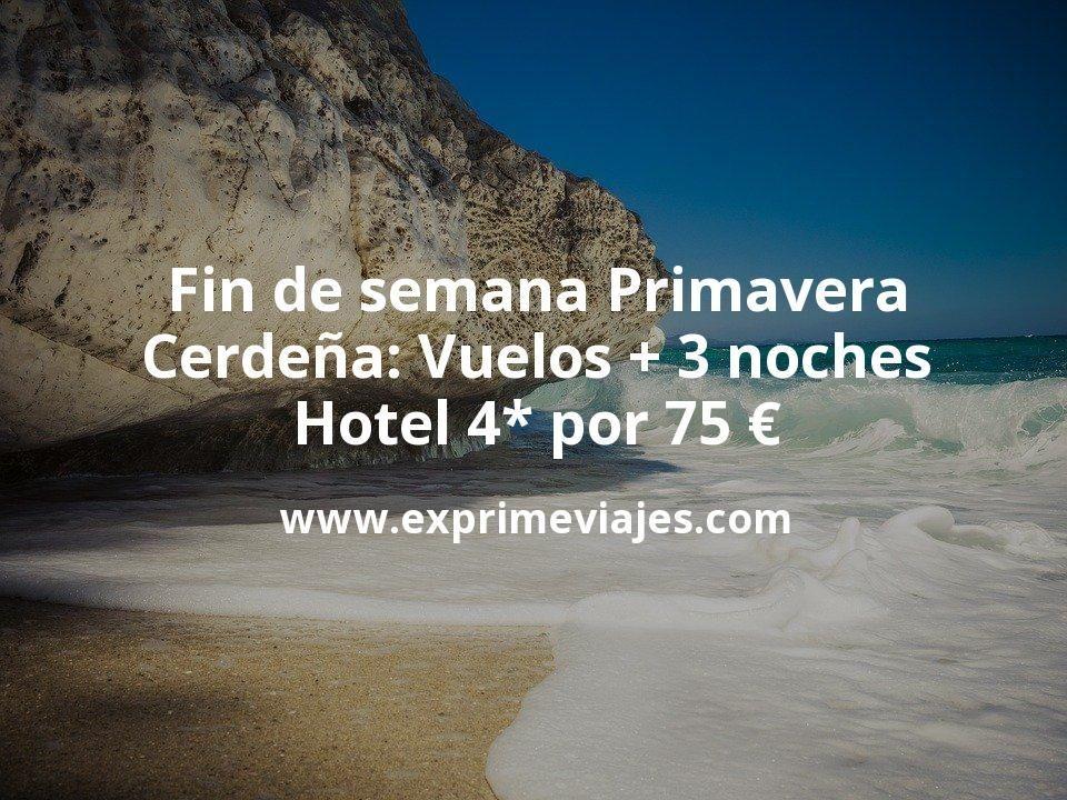 Fin de semana Primavera en Cerdeña: Vuelos + 3 noches hotel 4* por 75euros