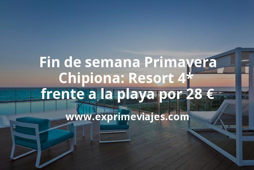 Fin de semana Primavera en Chipiona: Resort 4* frente a la playa por 28€ p.p/noche