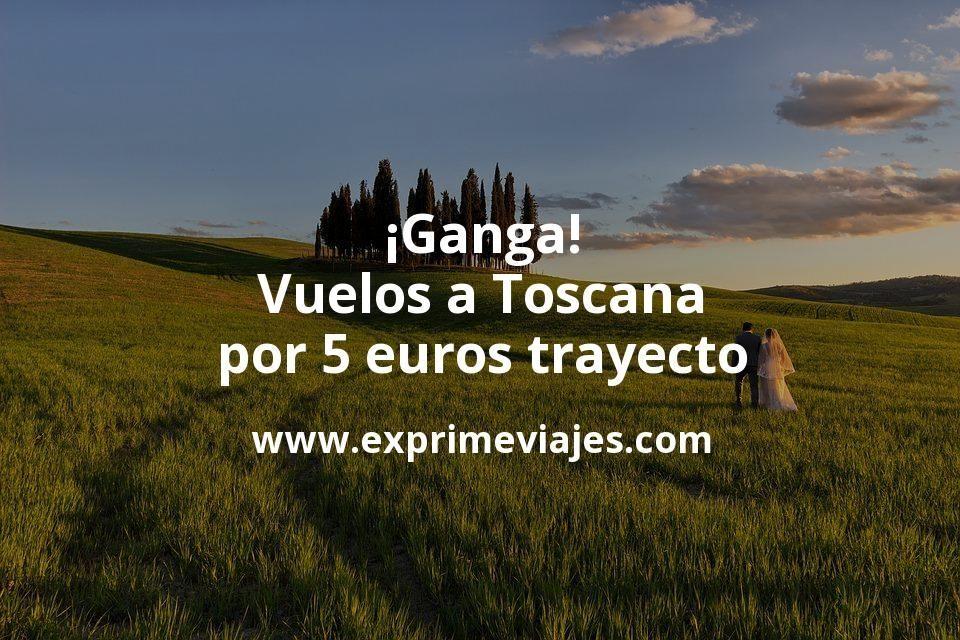 ¡Ganga! Vuelos a Toscana por 5euros trayecto