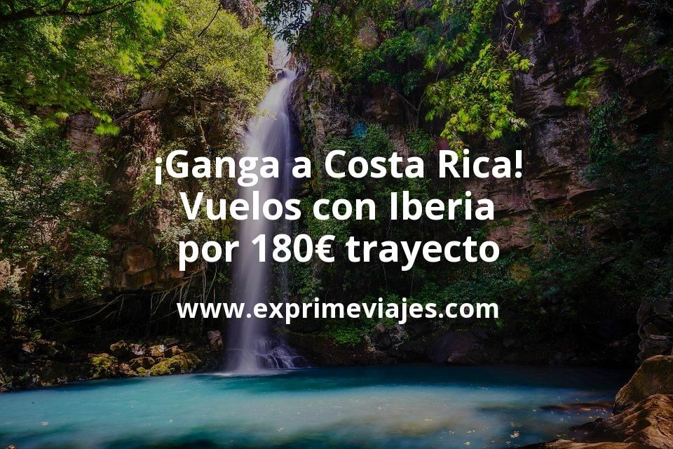 ¡Ganga! Vuelos a Costa Rica con Iberia por 180euros trayecto