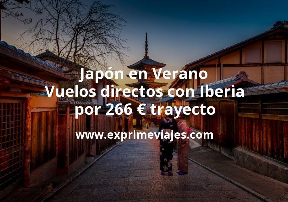 ¡Wow! Japón en Verano: Vuelos directos con Iberia por 266euros trayecto
