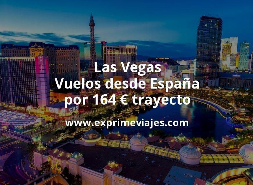 ¡Wow! Las Vegas: Vuelos desde España por 164euros trayecto