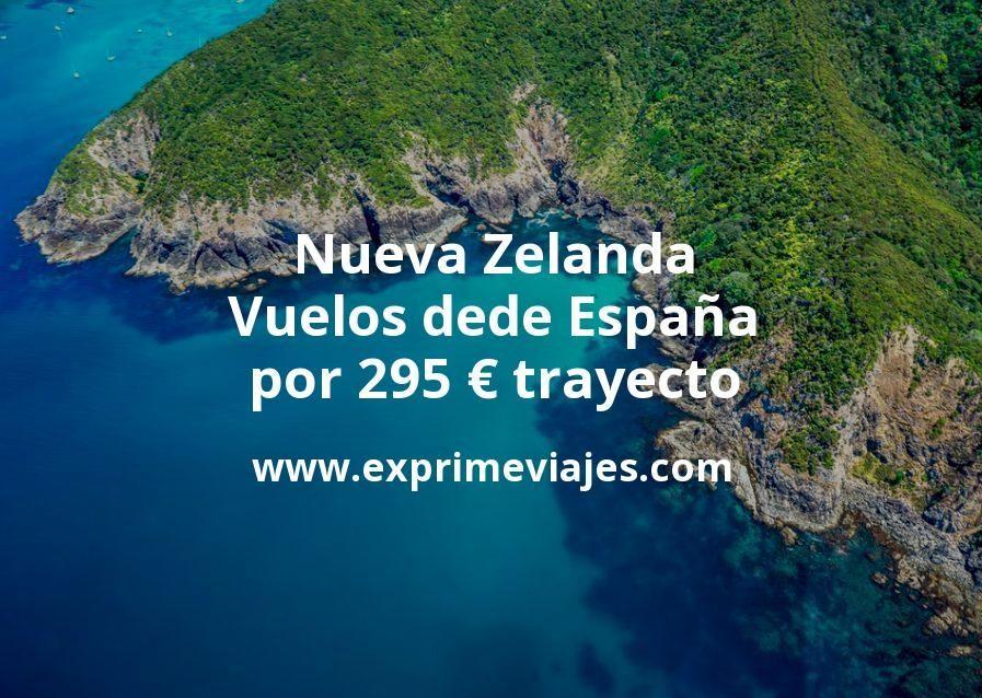 ¡Chollo! Nueva Zelanda desde España: Vuelos por 295euros trayecto