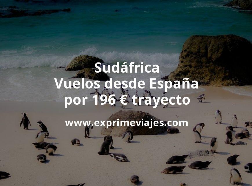 ¡Wow! Sudáfrica: Vuelos desde España por 196euros trayecto