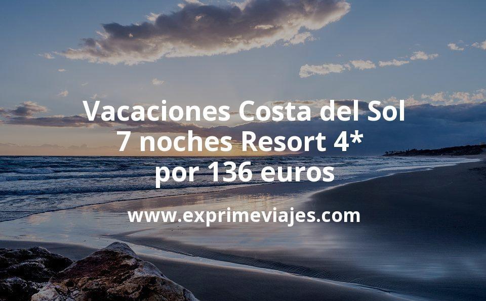 ¡Chollo! Vacaciones Costa del Sol: 7 noches Resort 4* por 136euros