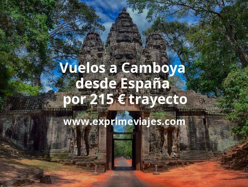 ¡Wow! Vuelos a Camboya desde España por 215euros trayecto