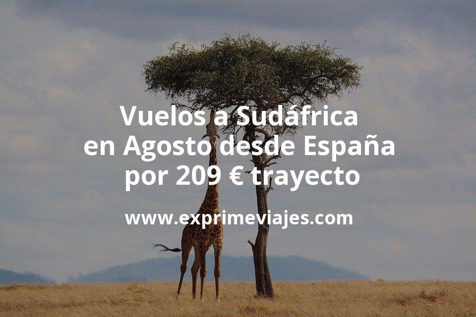 ¡Chollo! Vuelos a Sudáfrica en Agosto desde España por 209€ trayecto