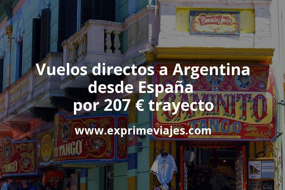 ¡Chollazo! Vuelos directos a Argentina desde España por 207euros trayecto