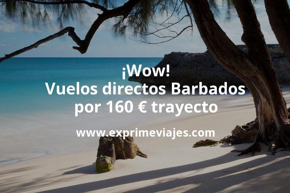 ¡Wow! Vuelos directos Barbados por 160euros trayecto