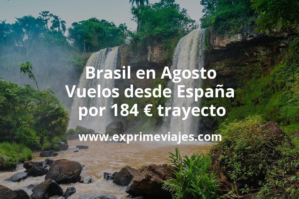 ¡Wow! Brasil en Agosto: Vuelos desde España por 184euros trayecto