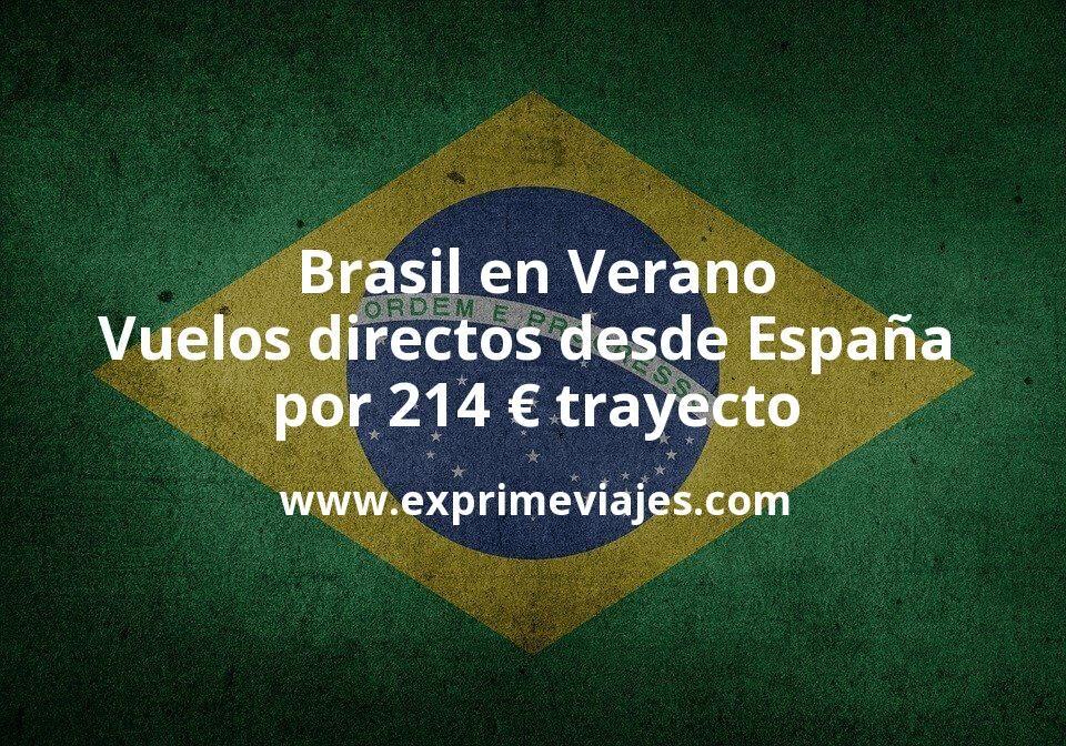 ¡Wow! Brasil en Verano: Vuelos directos desde España por 214euros trayecto