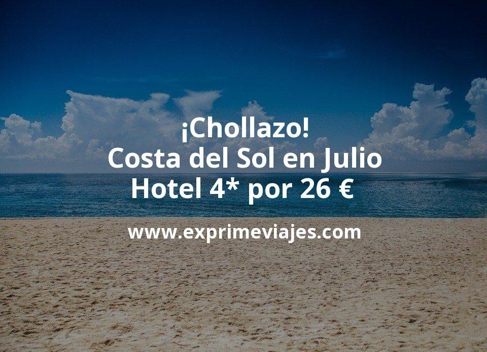 ¡Chollazo! Costa del Sol en Julio: Hotel 4* por 26€ p.p/noche