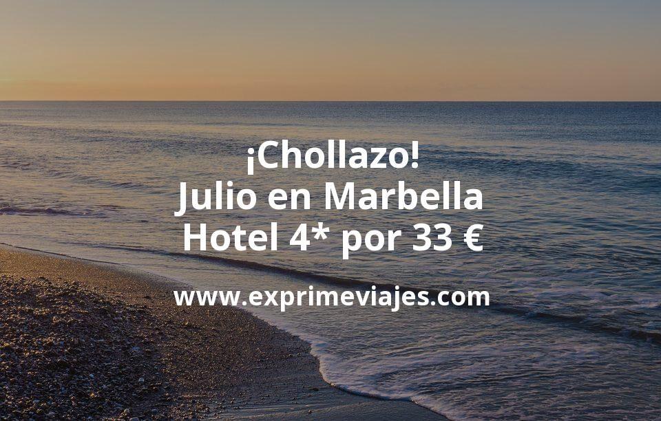 ¡Chollazo! Julio en Marbella: Hotel 4* por 33€ p.p/noche