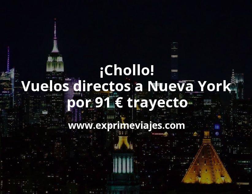 ¡Chollo! Vuelos directos a Nueva York por 91euros trayecto