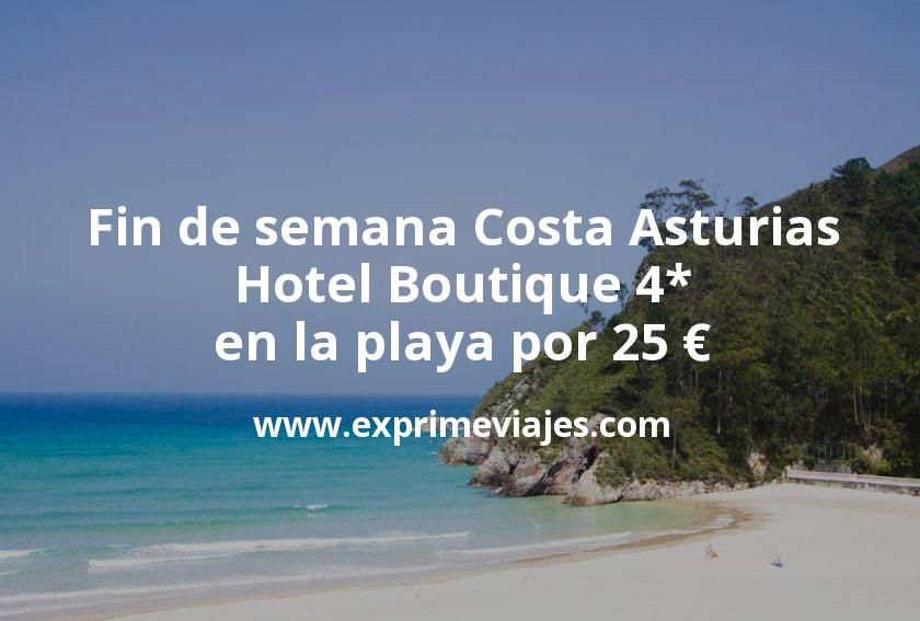 Fin de semana Costa Asturias: Hotel Boutique 4* en la playa por 25€ p.p/noche