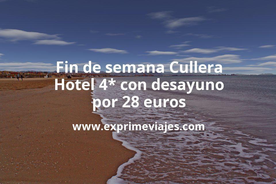 Fin de semana Cullera: Hotel 4* con desayuno por 28€ p.p/noche