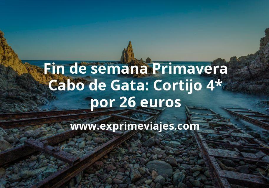Fin de semana Primavera Cabo de Gata: Cortijo 4* por 26€ p.p/noche