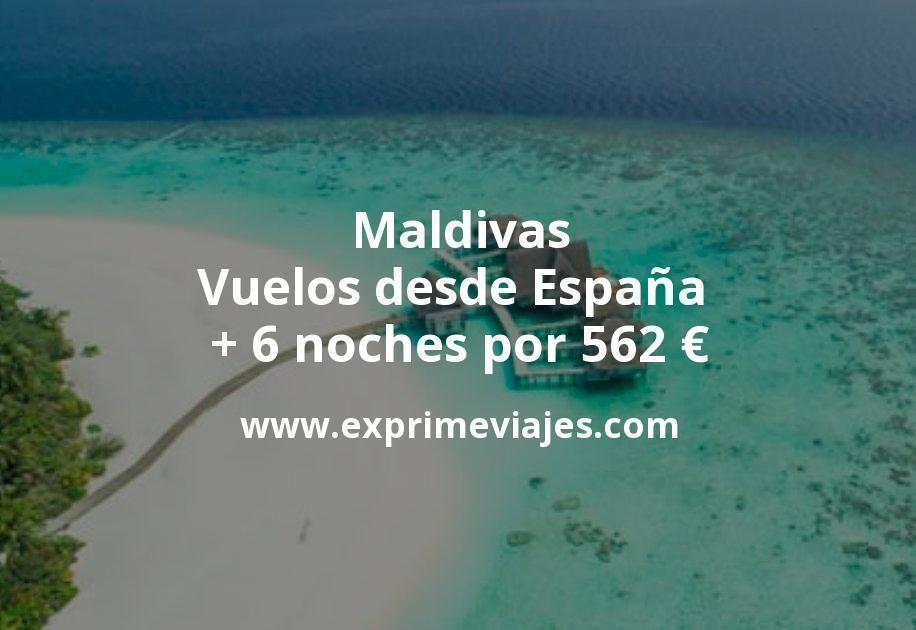¡Wow! Maldivas: Vuelos desde España + 6 noches por 562euros