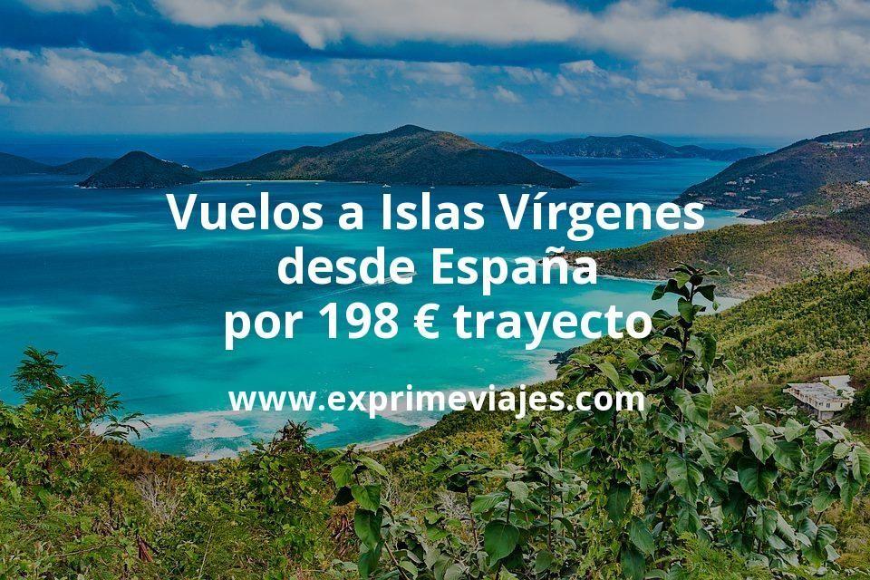¡Wow! Vuelos a Islas Vírgenes desde España por 198euros trayecto