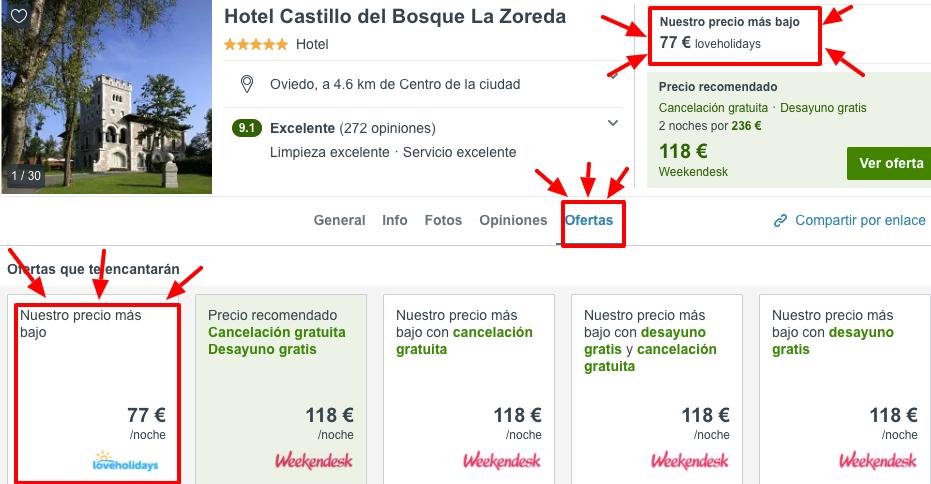 Fin de semana Lujo: Castillo Spa 5* Asturias por 38 € p.p/noche