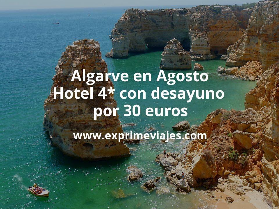 ¡Chollo! Algarve en Agosto: Hotel 4* con desayuno por 30€ p.p/noche