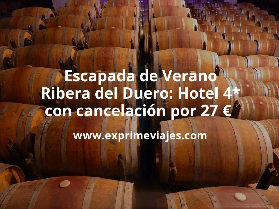 Escapada de Verano por la Ribera del Duero: Hotel 4* con cancelación por 27 € p.p/noche