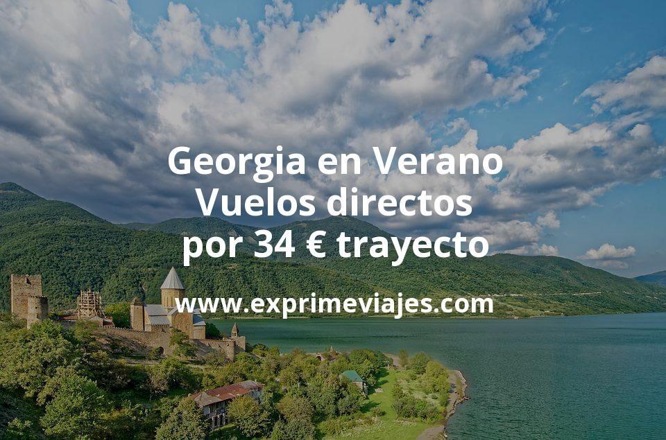¡Chollo! Georgia en Verano: Vuelos directos por 34euros trayecto