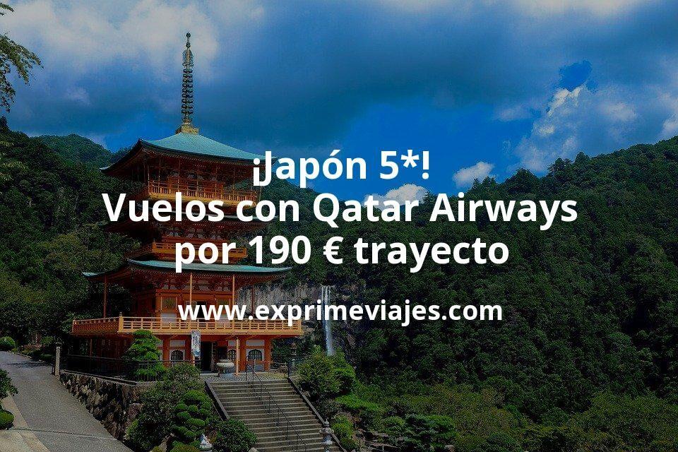 ¡Wow! Vuelos a Japón con Qatar Airways por 195€ trayecto con modificación gratuita