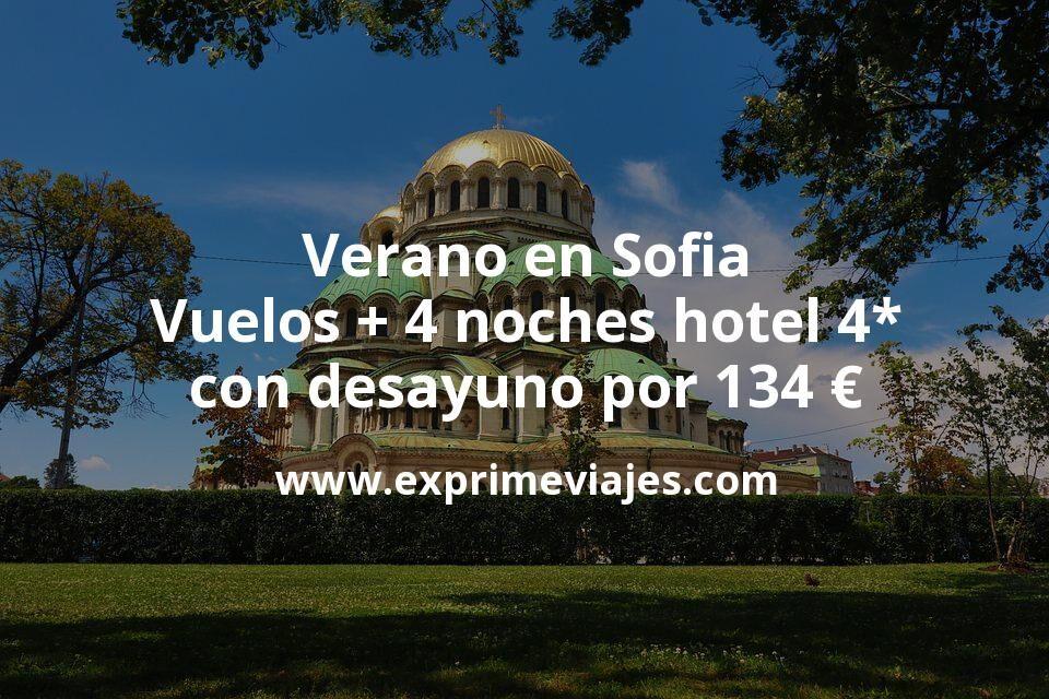 Verano en Sofia: Vuelos + 4 noches hotel 4* con desayuno por 134€