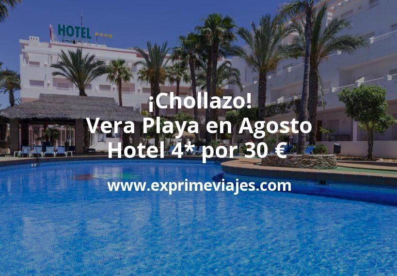 ¡Chollazo! Vera Playa en Agosto: Hotel 4* por 30 € p.p/noche