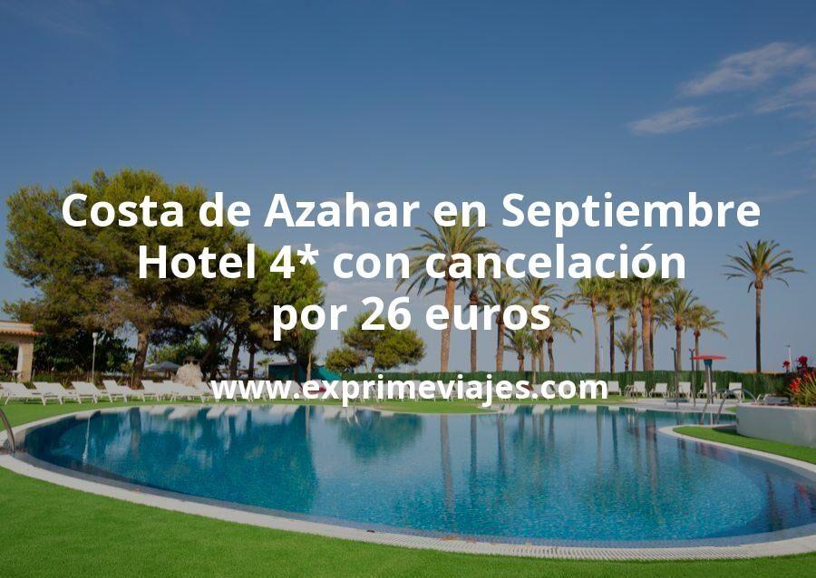 Costa de Azahar en Septiembre: Hotel 4* frente a la playa con cancelación por 26€ p.p/noche