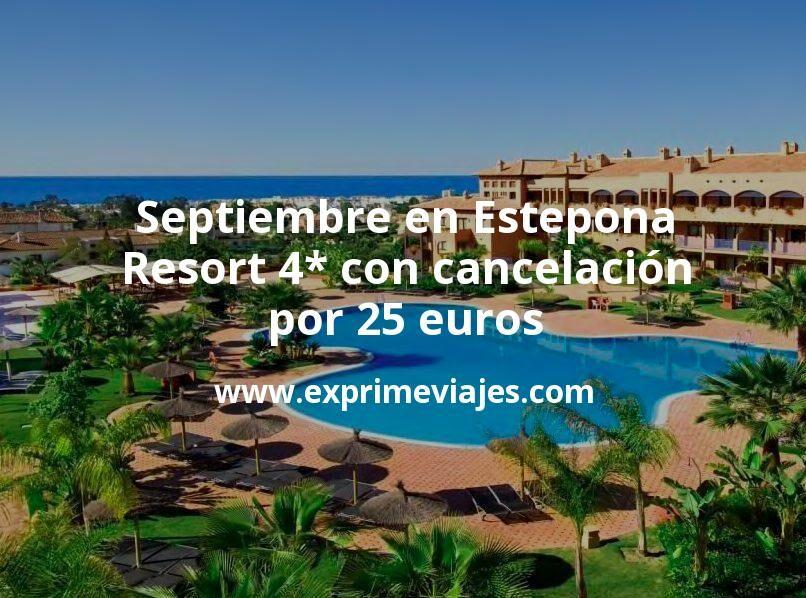 Septiembre en Estepona: Resort 4* con cancelación por 25€ p.p/noche