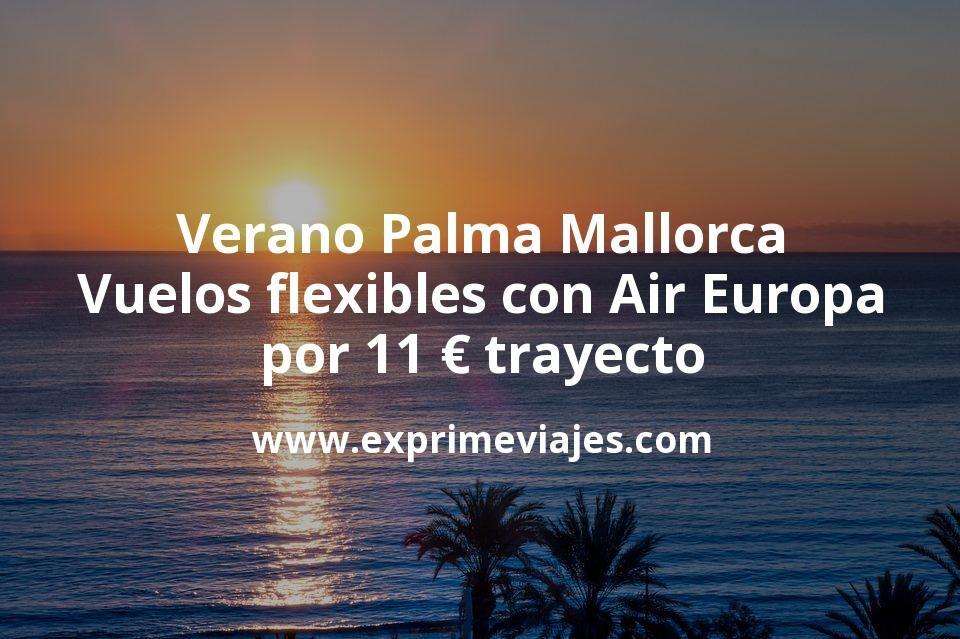 Palma de Mallorca en verano: vuelos flexibles por 11euros trayecto con Air Europa