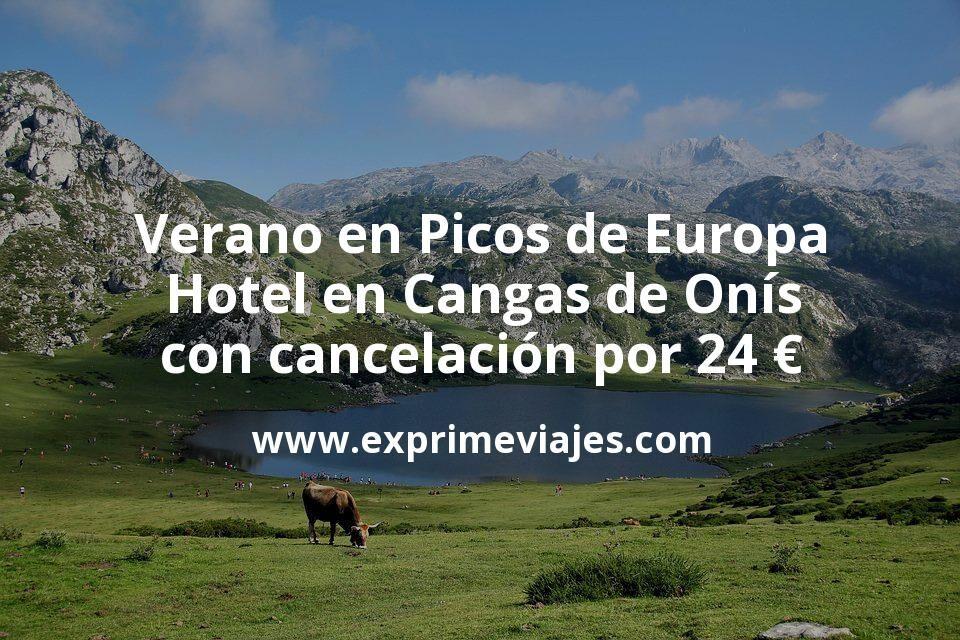 Verano en Picos de Europa: Hotel en Cangas de Onís con cancelación por 24€ p.p/noche