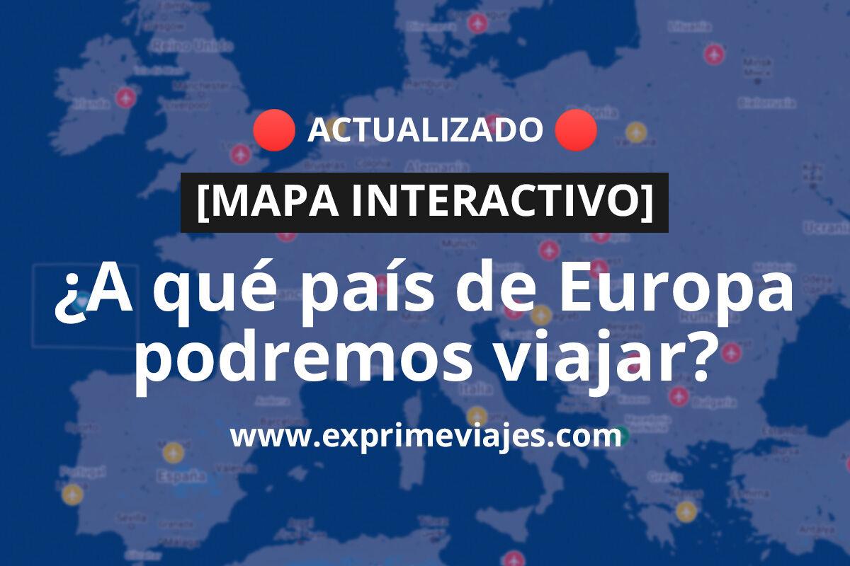 ¡Wow! Mapa interactivo de la reapertura de los viajes por Europa