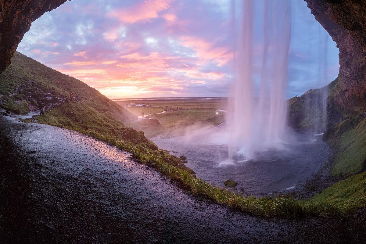 Islandia cascada exprime viajes
