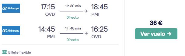 vuelos baratos de asturias a palma de mallorca en verano